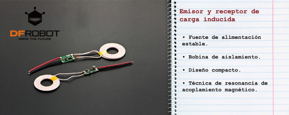 Emisor y receptor de carga inducida